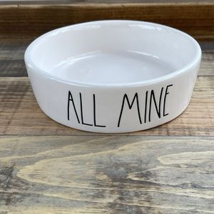 Rae Dunn ALL MINE Small Pet Dish Bowl